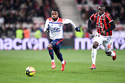 February 10, 2019 - Nice, France - 27 MAXWEL CORNET (OL) - 23 MALANG SARR  (Credit Image: © Panoramic via ZUMA Press)