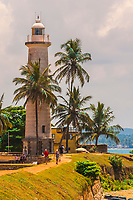 Lighthouse. Galle Fort, in the Bay of Galle on the southwest coast of Sri Lanka, was built first in 1588 by the Portuguese, then extensively fortified by the Dutch during the 17th century from 1649 onwards.