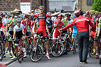 Sykkel<br /> Foto: PhotoNews/Digitalsport<br /> NORWAY ONLY<br /> <br /> SCHAR Michael of BMC Racing Team - Illustration picture of the peloton during race neutralisation during the stage 3 of the 102nd edition of the Tour de France 2015 with start in Antwerp and finish in Huy, Belgium (159 kms) *** HUY, BELGIUM - 6/07/2015