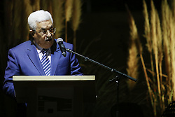 November 9, 2016 - Ramallah, West Bank, Palestinian Territory - Palestinian President Mahmud Abbas delivers a speech during the inauguration ceremony of late Palestinian leader Yasser Arafat's Museum in the West Bank city of Ramallah on November 9, 2016. The Yasser Arafat Museum opened in Ramallah, shedding light on the long-time Palestinian leader's life and offering a glimpse of history -- along with a number of his trademark black-and-white keffiyehs  (Credit Image: © Shadi Hatem/APA Images via ZUMA Wire)
