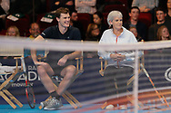 Jamie and Judy Murray coaches of the celebrity doubles players Anton du Beke and Helen Skelton, during the Men's Singles Final Champions Tennis match at the Royal Albert Hall, London, United Kingdom on 9 December 2018. Picture by Ian Stephen.