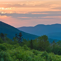 Early morning in the White Mountains as seen from Kancamagus Pass.
