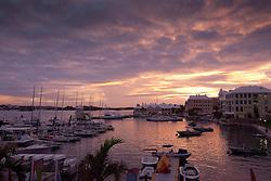 The sun sets over the Royal Bermuda Yacht Club at the Argo Group Gold Cup 2010. Hamilton, Bermuda. 7 October 2010. Photo: Subzero Images/WMRT