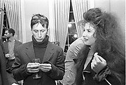 JOE MCKENNA; TAMA JANOWITZ, Spain, tom Bell book party. New York, 6 November 1990,<br /> <br /> SUPPLIED FOR ONE-TIME USE ONLY> DO NOT ARCHIVE. © Copyright Photograph by Dafydd Jones 248 Clapham Rd.  London SW90PZ Tel 020 7820 0771 www.dafjones.com
