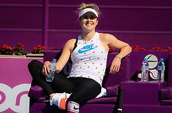 February 13, 2019 - Doha, QATAR - Elina Svitolina of the Ukraine during practice at the 2019 Qatar Total Open WTA Premier tennis tournament (Credit Image: © AFP7 via ZUMA Wire)