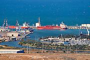 Israel, Haifa, Kishon Harbour.