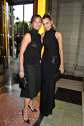 Left to right, YASMIN LE BON and AMBER LE BON at a private view of 'Horst: Photographer of Style' at The V&A Museum, London on 3rd September 2014.