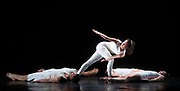 Tesseract <br /> Choreography by Rashaun Mitchell and Silas Riener <br /> Video by Charles Atlas <br /> At the Barbican Theatre, London, Great Britain <br /> 27th February 2019 <br /> European premiere of Tesseract <br /> Press photo call <br /> Opens on 28th February till  2nd March 2019.<br /> <br /> Performers:<br /> <br /> David Rafael Botana <br /> Eleanor Hullihan <br /> Kate Jewett <br /> Carl Kresge <br /> Rashaun Mitchell <br /> Silas Riener <br /> Ryan Thomas Jenkins (steadicam operator) <br /> <br /> As part of Life Rewired, the Barbican's year-long arts and learning season exploring what it means to be human when technology is changing everything, running throughout 2019, we bring the European premiere of Tesseract to London.<br />  <br /> Former Merce Cunningham Dance Company dancers Rashaun Mitchell and Silas Riener choreograph this exploration of the relationship between the human form and technology.<br />  <br /> Inspired by science fiction and time travel, and experimental in form and technique, Tesseract is rich in psychedelic, disorientating and hypnotic images. <br /> <br /> A live performance is captured by multiple cameras onstage; the footage mixed and projected onto a translucent screen, offering various perspectives of the crisp, intricate and innovative choreography.<br />  <br /> <br /> Photograph by Elliott Franks