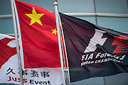April 17, 2014 - Shanghai, China. UBS Chinese Formula One Grand Prix. flags at Chinese Grand Prix<br /> <br /> © Jamey Price / James Moy Photography