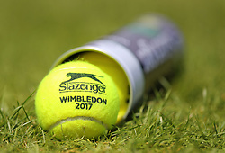 A tin of Slazenger tennis balls on day four of the Wimbledon Championships at the All England Lawn Tennis and Croquet Club, Wimbledon.