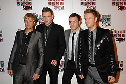 Pop group West Life  at the South Bank Show Awards held at The Dorchester, Park Lane, London on 29th January 2008.<br /><br />NON EXCLUSIVE - WORLD RIGHTS