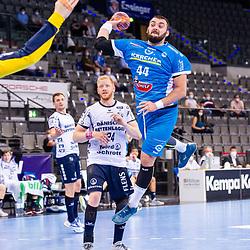 Zharko Pesevski (TVB Stuttgart #44) ; Torbjorn Bergerud (SG Flensburg-Handewitt #30) ; LIQUI MOLY HBL / 1. Handball-Bundesliga: TVB Stuttgart - SG Flensburg-Handewitt am 09.06.2021 in Stuttgart (PORSCHE Arena), Baden-Wuerttemberg, Deutschland<br /> <br /> Foto © PIX-Sportfotos *** Foto ist honorarpflichtig! *** Auf Anfrage in hoeherer Qualitaet/Aufloesung. Belegexemplar erbeten. Veroeffentlichung ausschliesslich fuer journalistisch-publizistische Zwecke. For editorial use only.