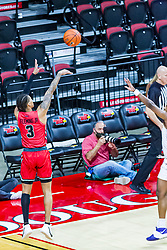NORMAL, IL - February 27: Howard Fleming Jr puts up a long shot during a college basketball game between the ISU Redbirds and the Northern Iowa Panthers on February 27 2021 at Redbird Arena in Normal, IL. (Photo by Alan Look)