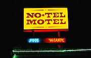 No Tell Motel sign Tucson, Arizona, USA.