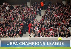 23.10.2012, Grand Stade Lille Metropole, Lille, OSC Lille vs FC Bayern Muenchen, im Bild Champions League Logo mit Fans // during UEFA Championsleague Match between Lille OSC and FC Bayern Munich at the Grand Stade Lille Metropole, Lille, France on 2012/10/23. EXPA Pictures © 2012, PhotoCredit: EXPA/ Eibner/ Gerry Schmit..***** ATTENTION - OUT OF GER *****
