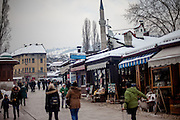 Quarter Baščaršija - which is Sarajevo's old bazaar and the historical and cultural center of the Bosnian capital city.
