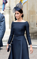 Meghan, Duchess of Sussex during the RAF Centenary at Buckingham Palace, London. Photo credit should read: Doug Peters/EMPICS