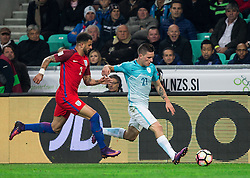 Kyle Walker of England vs Benjamin Verbic of Slovenia during football match between National teams of Slovenia and England in Round #3 of FIFA World Cup Russia 2018 Qualifier Group F, on October 11, 2016 in SRC Stozice, Ljubljana, Slovenia. Photo by Vid Ponikvar / Sportida