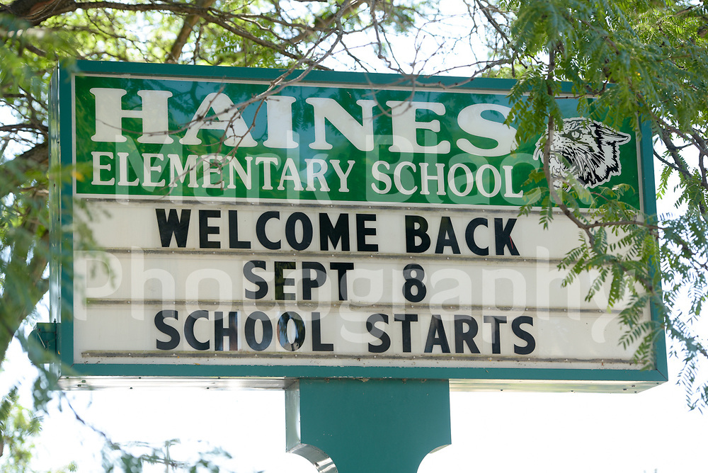 Haines Elementary School in Chicago on Wednesday, Aug. 19, 2020.  Photo by Mark Black
