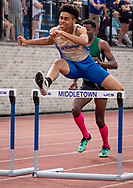 Middletown, New York -  Day 1 of the New York State Public High School Athletic Association Outdoor Track and Field Championships at Faller Field onJune 7, 2019.