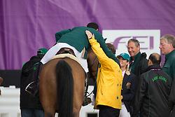 Bahamdan Kamal (KSA) - Noblesse des Tess<br /> Tops Jan (NED)<br /> Olympic Games London 2012<br /> © Dirk Caremans
