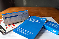 13/03/2021 Lateral Flow home testing kits issued to English pupils on the return to school for home testing. they are to be used twice a week until further notice.