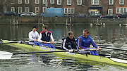 Henley. England, GB Rowing crews training on Henley Reach.<br /> Photo Peter Spurrier.<br /> 11/03/2004 - British International Rowing - Training<br /> GBR M4- [right to left] stroke Matt Pinsent,  3 James Cracknell,  2 Josh West and bow Stephen Williams..   [Mandatory Credit. Peter SPURRIER/Intersport Images]