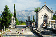 Cemetery, Zrnovo, island of Korcula, Croatia