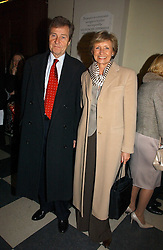 TV presenter SUE LAWLEY and MR HUGH WILLIAMS at the annual House of Lords and House of Commons Parliamentary Palace of Varieties in aid of Macmillan Cancer Support held at St.John's Smith Square, London W1 on 1st February 2007.<br /><br />NON EXCLUSIVE - WORLD RIGHTS