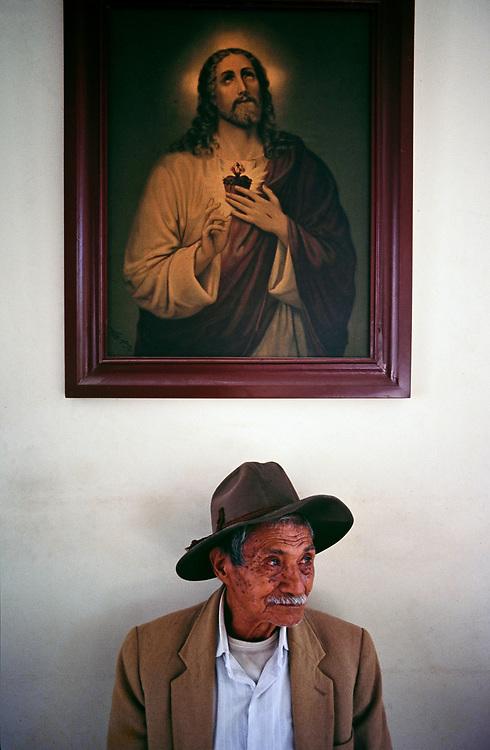 Portrait of elderly gentleman, Popayan, Cauca, Colombia