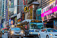 NEW YORK CITY- MARCH 26, 2018 : Theater District Broadway one of the main Manhattan Landmarks