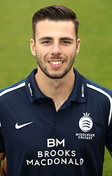 Middlesex's Tom Barber during the media day at Lord's Cricket Ground, London.