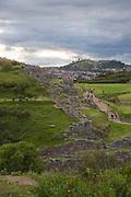 Saksaywaman, Incan archaelogical site, Cusco, Urubamba Province, Peru