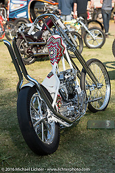 BF8 Invited builder Uwe Ehinger's Ehingerkraft Harley-Davidson Knucklehead at the Born Free Motorcycle Show-8 at the Oak Canyon Ranch. Silverado, CA, USA. Saturday June 25, 2016.  Photography ©2016 Michael Lichter.