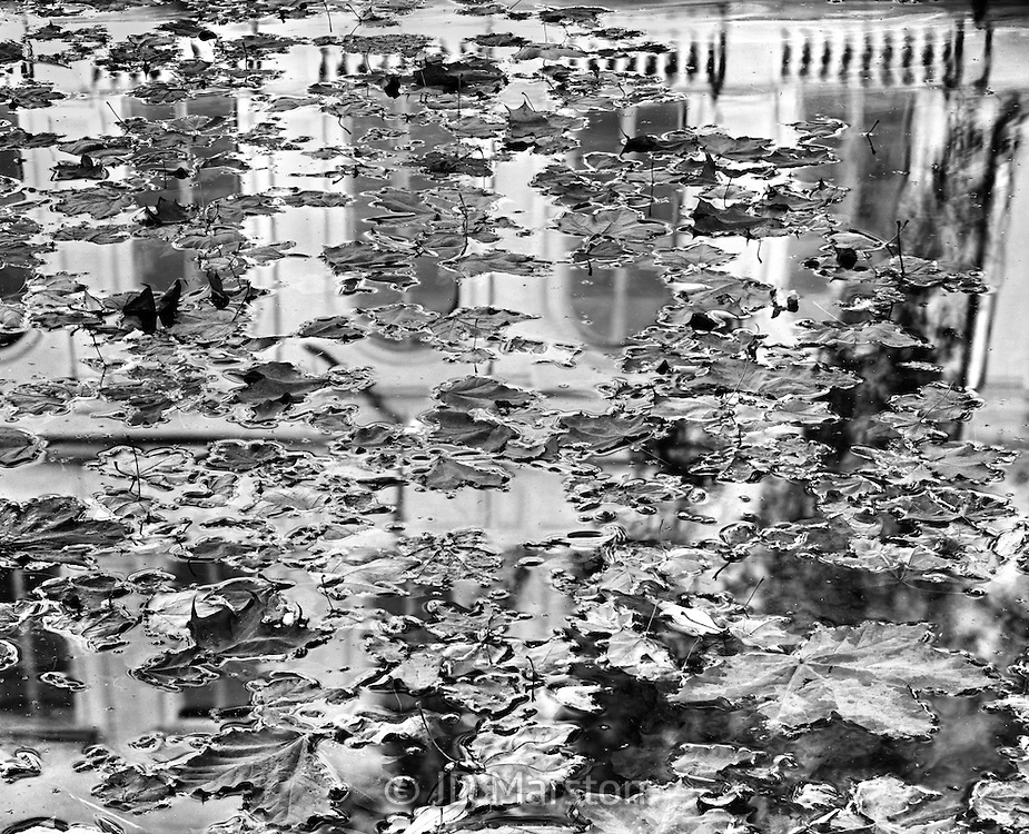 Theatre House Reflection Abstract, Stockholm, Sweden,