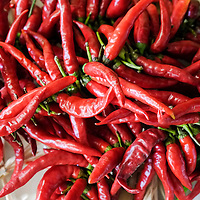 Red chilly peppers are seen at  the Biennale del Gusto on October 28, 2013 in Venice, Italy. The Biennale del Gusto is an exhibition held over four days, dedicated to traditional food and drinks from all regions of Italy.