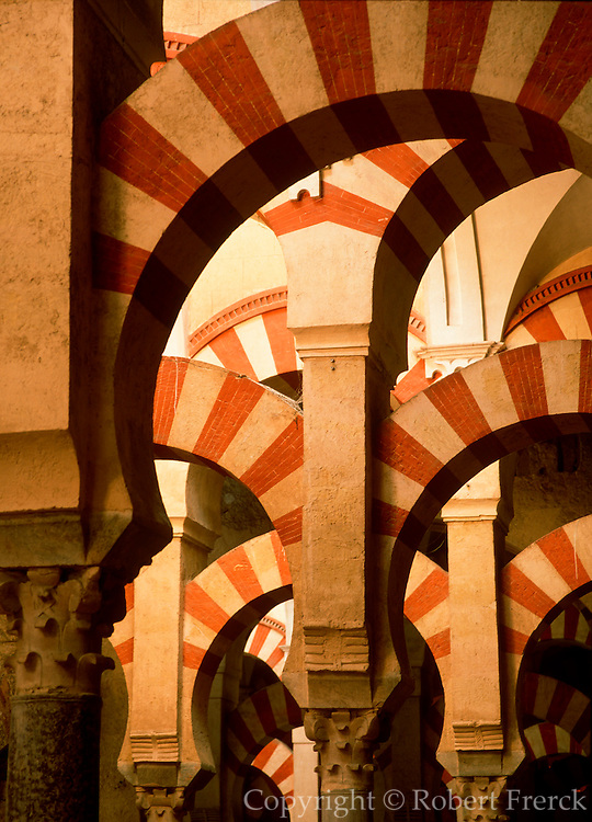 SPAIN, ANDALUSIA, CORDOBA 'La Mezquita', Great Mosque, arches