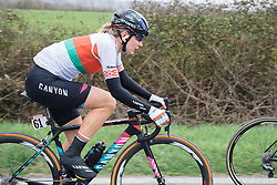 Alena Amialiusik speeds by fields enroute to the second gravel sector - 2016 Strade Bianche - Elite Women, a 121km road race from Siena to Piazza del Campo on March 5, 2016 in Tuscany, Italy.