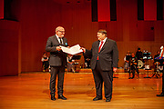 The former Czech culture minister, Daniel Herman, was awarded the Charles IV Prize for fostering understanding among European nations at a conference of the Sudeten German Landsmannschaft in Munich on Saturday. Right spokesman Bernd Posselt.