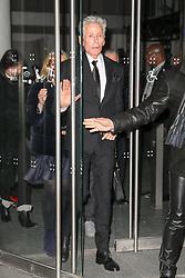 Calvin Klein is seen leaving the Carolina Herrera Fashion Show Fall 2018 in New York City. 12 Feb 2018 Pictured: Calvin Klein. Photo credit: ZapatA/MEGA TheMegaAgency.com +1 888 505 6342