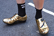 Elia Viviani of Italy and Team Sky golden shoes during the Tour of Britain 2016 stage 8 , London, United Kingdom on 11 September 2016. Photo by Martin Cole.