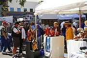 Visitors and vendor booths at the Fountain Hills Great Fair, Fountain Hills, near Phoenix, Arizona.