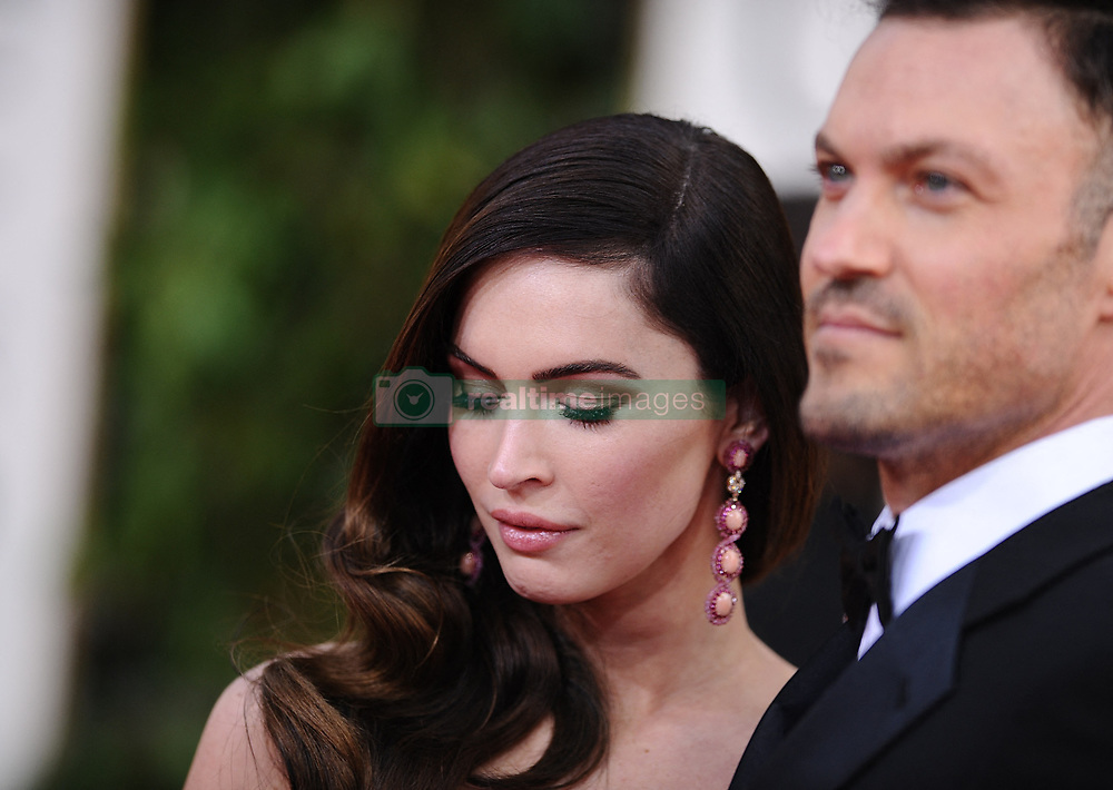 """File phot dated January 13, 2013 of Megan Fox and Brian Austin Green arriving for the 70th Annual Golden Globe Awards Ceremony, held at the Beverly Hilton Hotel in Los Angeles, CA, USA. After nearly 10 years of marriage and three children together, Megan Fox and Brian Austin Green have split. The """"Beverly Hills, 90210"""" star confirmed the news on his podcast """"…With Brian Austin Green,"""" in an episode titled """"Context."""" Photo by Lionel Hahn/ABACAPRESS.COM"""