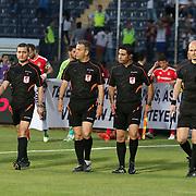 Referee's Mustafa Kamil Abitoglu (C) during their Turkish superleague soccer match Besiktas between Torku Konyaspor at Osmanli Stadium in Ankara Turkey on Monday 18 May 2015. Photo by Aykut AKICI/TURKPIX