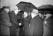 15/04/1966<br /> 04/15/1966<br /> 15 April 1966<br /> Unveiling of Plaque at Boland's Mills. President Eamon de Valera unveils a plaque to commemorate the 1916 Rising at Bolands Mills, where he was Commandant during the insurrection. Picture shows the President arriving for the ceremony.