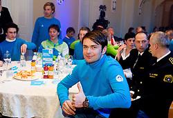Rok Flander during presentation of Team Slovenia for Sochi 2014 Winter Olympic Games on January 22, 2014 in Grand Hotel Union, Ljubljana, Slovenia. Photo by Vid Ponikvar / Sportida
