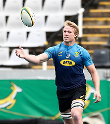 Durban. 170818.  Pieter-Steph du Toit of South Africa during the South African national rugby team captains run at Jonsson Kings Park in Durban, South Africa. Pucture Leon Lestrade. African News Agency/ANA