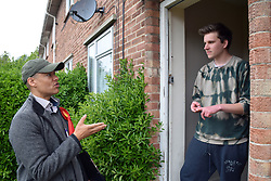 Clive Lewis, Labour MP for Norwich South, canvassing in Norwich 2 days before the local elections. 2 May 2017. UK