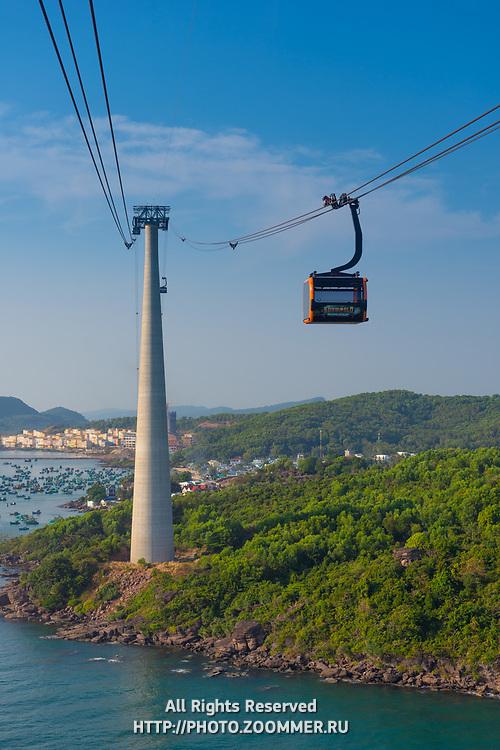 Gondola of Hon Thom cable car, Phu Quoc island, Vietnam
