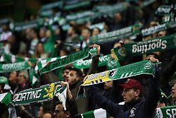 February 14, 2019 - Lisbon, Portugal - Sporting's supporters during the UEFA Europa League Round of 32 First Leg football match Sporting CP vs Villarreal CF at Alvalade stadium in Lisbon, Portugal on February 14, 2019. (Credit Image: © Pedro Fiuza/NurPhoto via ZUMA Press)